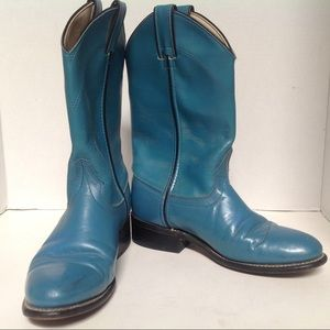 Laredo Cowboy Boots Turquoise Women's Ropers  6 M